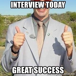 borat - interview today great success
