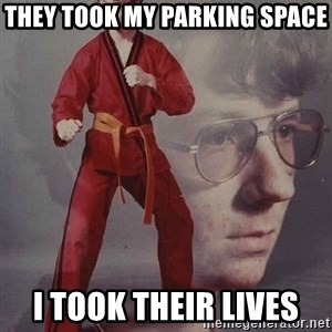 PTSD Karate Kyle - They took my parking space I took their lives