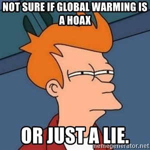 Not sure if troll - Not sure if Global Warming is a hoax Or just a lie.