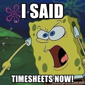 Spongebob Rage - i said timesheets now!