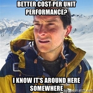 Bear Grylls Loneliness - better cost per unit performance? i know it's around here somewhere