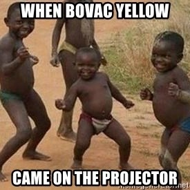 african children dancing - When Bovac Yellow Came on the projector