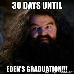 Yer A Wizard Harry Hagrid - 30 Days Until Eden's Graduation!!!