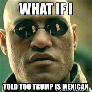 What If I Told You - What if I Told you Trump is Mexican