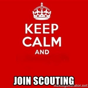 Keep Calm 2 - join Scouting
