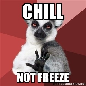 Chill Out Lemur - Chill Not freeze
