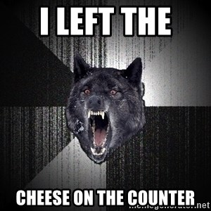 Insanity Wolf - I LEFT THE  CHEESE ON THE COUNTER