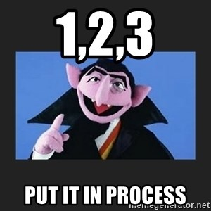 The Count from Sesame Street - 1,2,3 Put it in process
