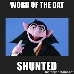The Count from Sesame Street - Word of the Day Shunted