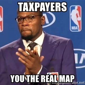 KD you the real mvp f - taxpayers you the real map