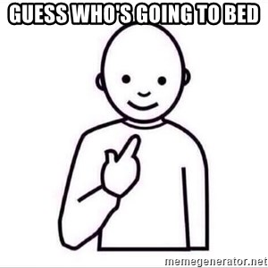 Guess who ? - Guess who's going to bed