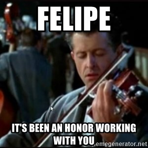 Titanic Band - Felipe It's been an honor working with you