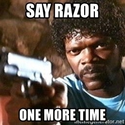 Pulp Fiction - SAY RAZOR ONE MORE TIME