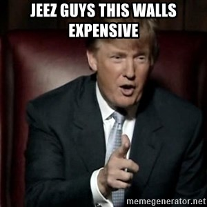 Donald Trump - Jeez guys this walls expensive