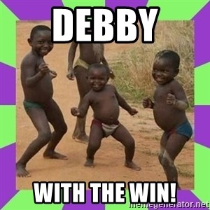 african kids dancing - Debby  with the win!