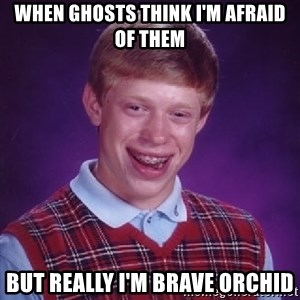 Bad Luck Brian - When ghosts think I'm afraid of them But really I'm Brave Orchid