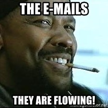 Denzel Washington Cigarette - The e-mails They are flowing!