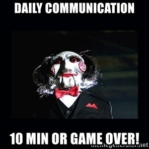 saw jigsaw meme - Daily communication 10 MIN OR GAME OVER!
