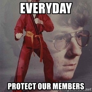 PTSD Karate Kyle - Everyday protect our members