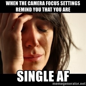 crying girl sad - When the camera focus settings remind you that you are Single AF