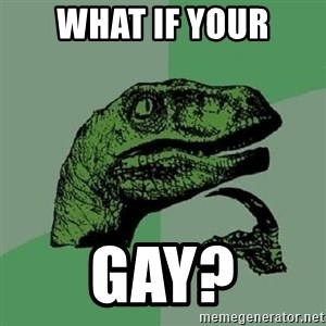 Philosoraptor - what if your gay?