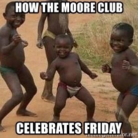 african children dancing - HOW THE MOORE CLUB CELEBRATES FRIDAY
