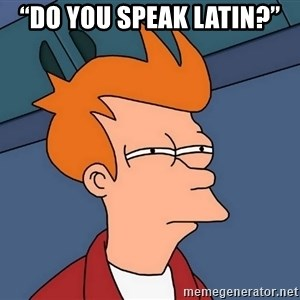 "Futurama Fry - ""Do you speak Latin?"""