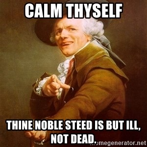 Joseph Ducreux - Calm Thyself Thine noble steed is but ill, not dead.