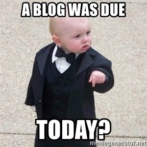 Mafia Baby - a blog was due today?