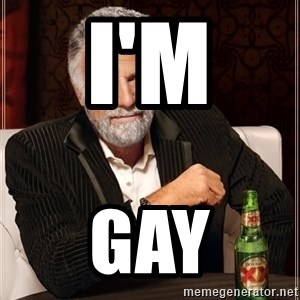 The Most Interesting Man In The World - I'm  Gay