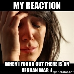 crying girl sad - My reaction when i found out there is an Afghan War :(