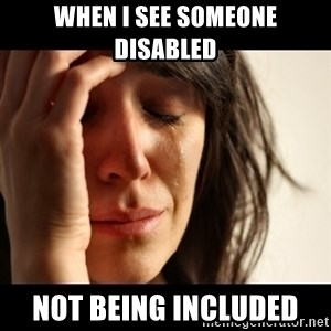 crying girl sad - When I see someone disabled not being included