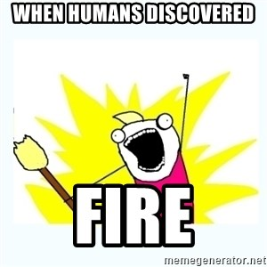 All the things - When humans discovered  FIRE