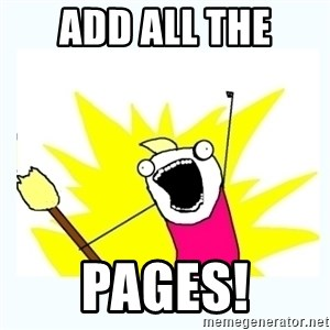 All the things - ADD ALL THe PAges!