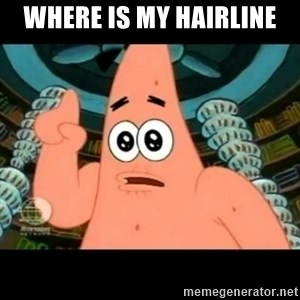 ugly barnacle patrick - where is my hairline