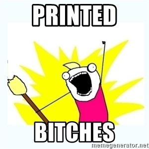All the things - Printed  bitches