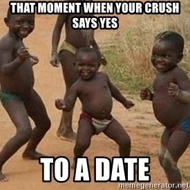 african children dancing - that moment when your crush says yes to a date