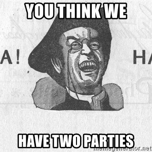 Ha Ha Guy - You think we Have two parties