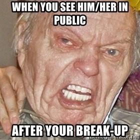 Grumpy Grandpa - when you see him/her in public  after your break-up