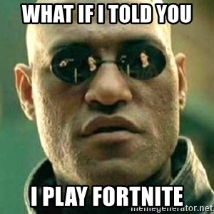 what if i told you matri - what if i told you i play fortnite