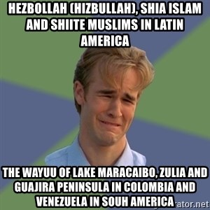 Sad Face Guy - Hezbollah (Hizbullah), Shia Islam and Shiite Muslims in Latin America  The Wayuu of Lake Maracaibo, Zulia and Guajira Peninsula in Colombia and Venezuela in Souh America