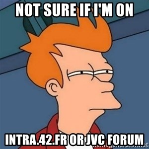 Not sure if troll - not sure if i'm on intra.42.fr or jvc forum