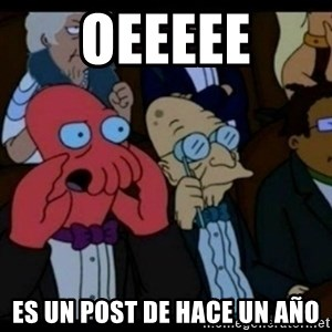You should Feel Bad - Oeeeee Es un post de hace un año