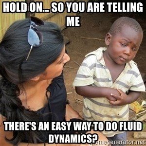 So You're Telling me - Hold on... So you are telling me There's an easy way to do fluid dynamics?