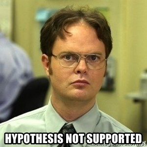 Dwight Schrute - Hypothesis not supported