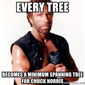 Chuck Norris Meme - every tree becomes a minimum spanning tree for chuck norris
