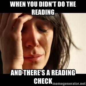crying girl sad - When you didn't do the reading and there's a reading check