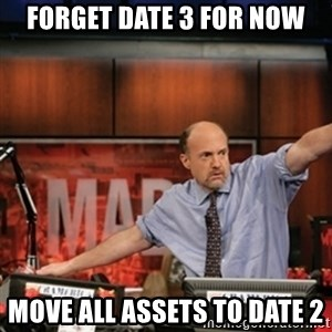 Jim Kramer Mad Money Karma - Forget Date 3 for now Move all assets to Date 2