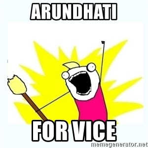All the things - arundhati for vice