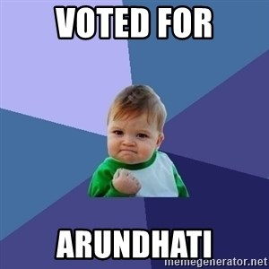 Success Kid - voted for arundhati